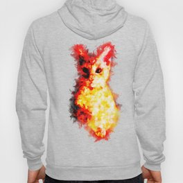 cat 2 abstract ink Hoody