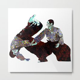 Red Energy aikido Metal Print