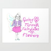 Going Through Fairytales of Flowers Art Print