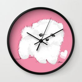 Cute pomeranian puppy design  Wall Clock