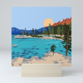 Sand Harbor Lake Tahoe Mini Art Print