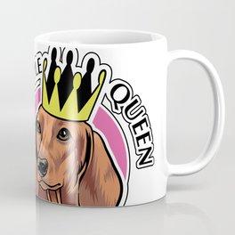 Brown dachshund queen Coffee Mug