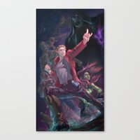 guardians of the galaxy Canvas Prints featuring Guardians Of The Galaxy by Arashi.C