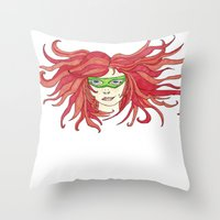 sister Throw Pillows featuring Sister by aHattfull