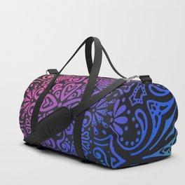 Rainbow Mandala Background Pink Orange Blue Green Purple Duffle Bag