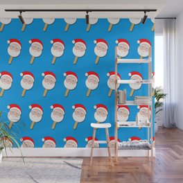 santa clause bubble gum ice cream Wall Mural