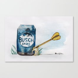 Beer Darts Canvas Print