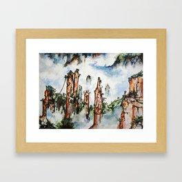 Floating Mountains Framed Art Print