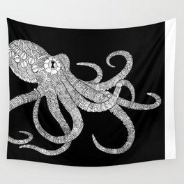 Mechanical Octopus (b&w version) Wall Tapestry