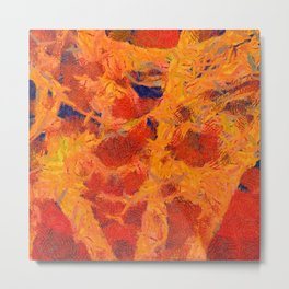 Abstract Art by Tito. Blood Metal Print