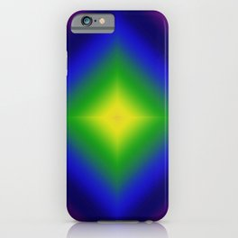 Rainbow Gradient Diamond Geometric iPhone Case