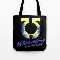 warhammer Tote Bags featuring Ultramarines by Moombax