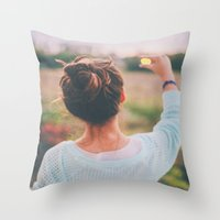 tumblr Throw Pillows featuring Tumblr by Amanda Lily
