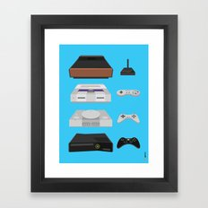 Historical Video Games Framed Art Print