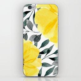 Big yellow watercolor flowers iPhone Skin
