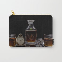 Class Aged Scotch in Crystal Decanter and Glasses with Watch color photography / photographs bar, kitchen, dinning wall decor Carry-All Pouch
