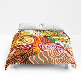 colored flow Comforters