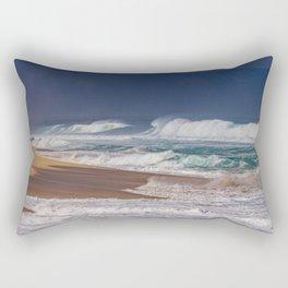 Stormy Sunset Beach Rectangular Pillow