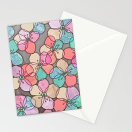 It's Always Summer Somewhere - bright poppy floral Stationery Cards
