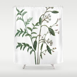 Plant Watercolor Shower Curtain