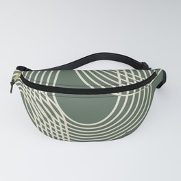 Minimalist Lines in Forest Green Fanny Pack