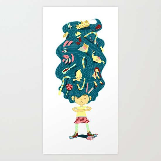 I Hate Combs! Art Print