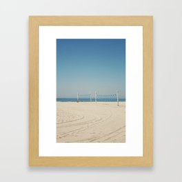 Hermosa Beach Volleyball Framed Art Print