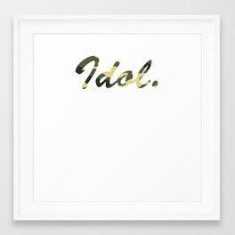Hello My Name Is SOCIETY! Framed Art Print