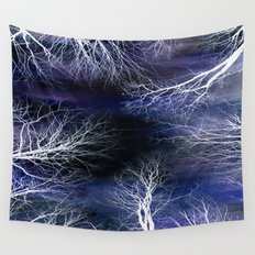Abstract Midnight Trees Wall Tapestry