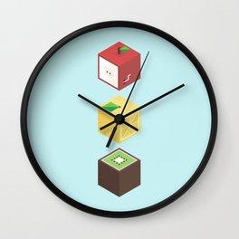 Fruit cubes Wall Clock
