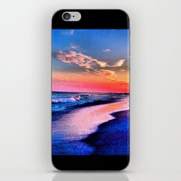 The Beach full of color @ Wrightsville Beach iPhone Skin