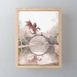 Dragon & Princess Framed Mini Art Print