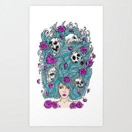 Lady Nature. Art Print