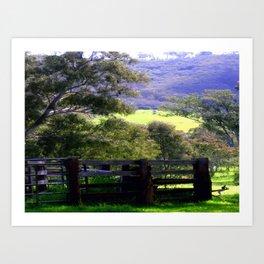 Cattle Yard Art Print