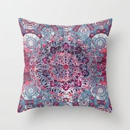 Vintage Boho Burgundy Mandala Throw Pillow