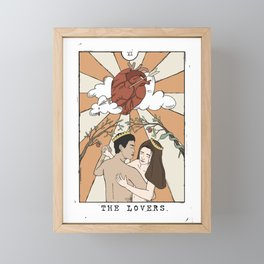 The Lovers Tarot Framed Mini Art Print