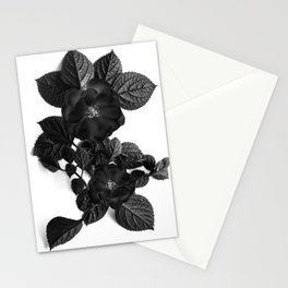 Black Flower Stationery Cards