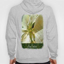 Pale Yellow Poinsettia 1 Merry Christmas S6F1 Hoody