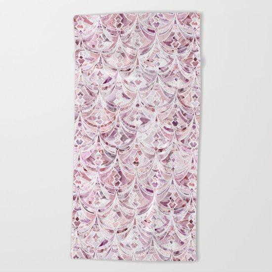 Berry Frosting Art Deco Pattern  Beach Towel
