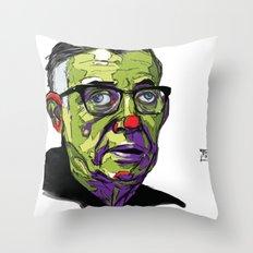 J.P. Sartre Throw Pillow