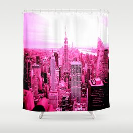 New York City Pink Shower Curtain