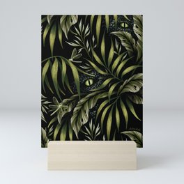 Jurassic Jungle - Camo Green Mini Art Print