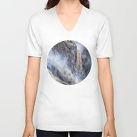 geology V-neck T-shirts featuring The magnificent Barron Falls by Wendy Townrow