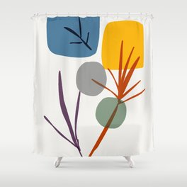 zen garden colorful Shower Curtain