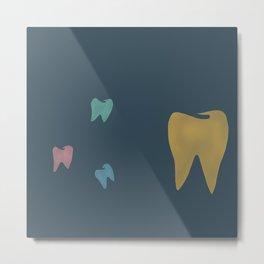 Molars in Blue Metal Print