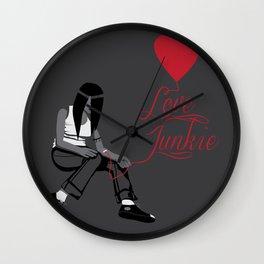 Love Junkie Wall Clock