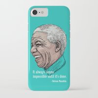 mandela iPhone & iPod Cases featuring Mandela by Fortissimo6