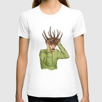 antlers T-shirts featuring Antlers by caxcma