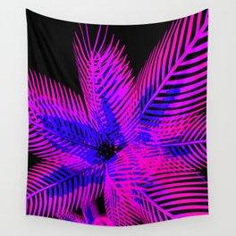 Black Light Plant Wall Tapestry