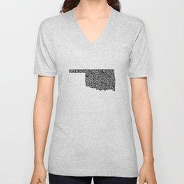 Typographic Oklahoma Unisex V-Neck
